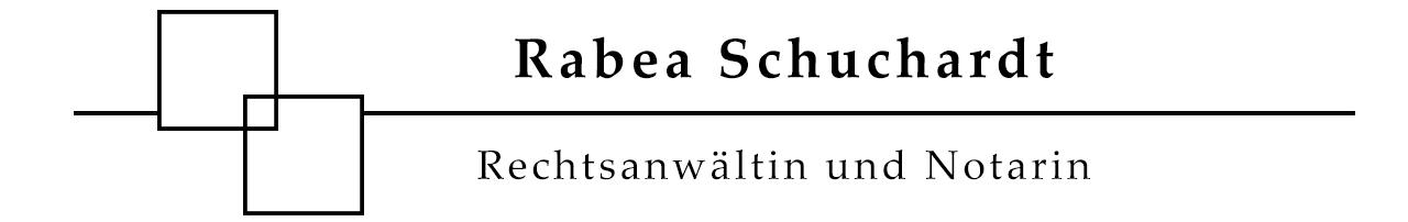 Rechtsanwältin Rabea Schuchardt